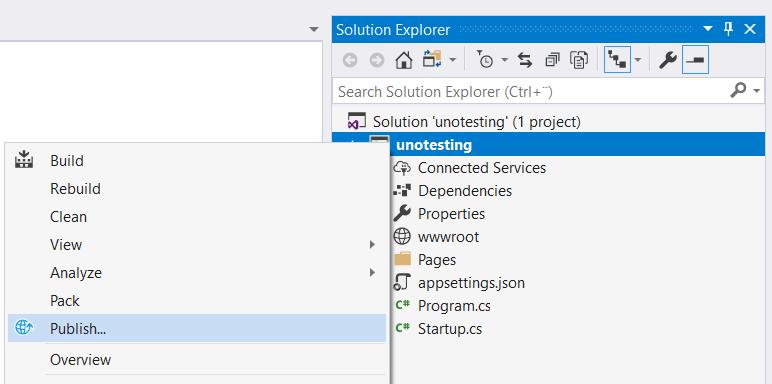 Deploy  NET Core - Support articles - UnoEuro Webhosting