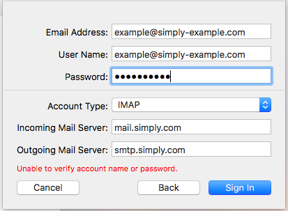 Setting up mail in Mac Mail (macOS) - Support articles